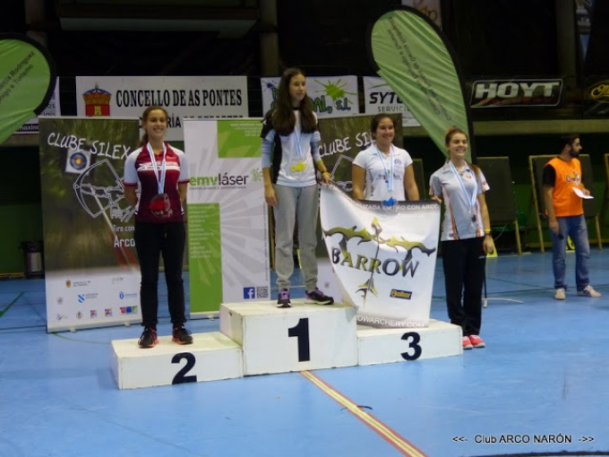 Oro, plata y cuarto puesto para las chicas de la FMTA en la CAP´15 I International Archery Tournament